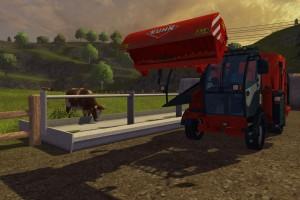 Landwirtschafts-Simulator-2013 Futtermischwagen Kühe