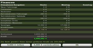 Landwirtschafts-Simulator 2013 Finanzen Bank Kredite