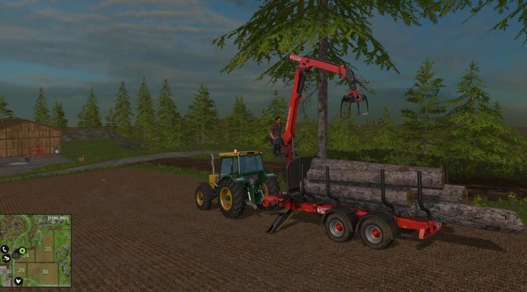 Landwirtschafts-Simulator 15 Bäume verarbeiten Stämme verkaufen