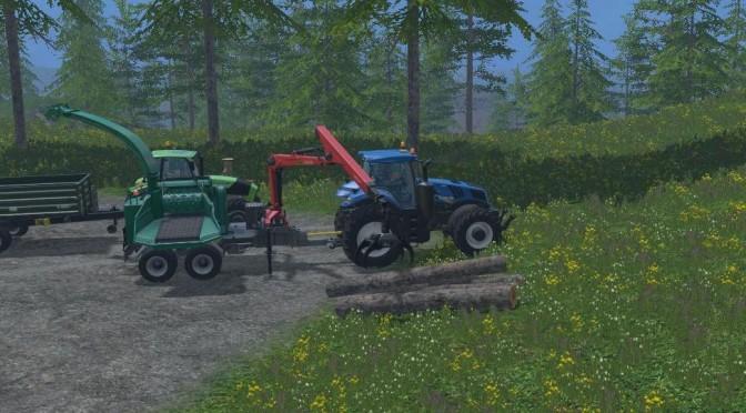 Landwirtschafts-Simulator 15: Bäume verarbeiten – Hackschnitzel herstellen