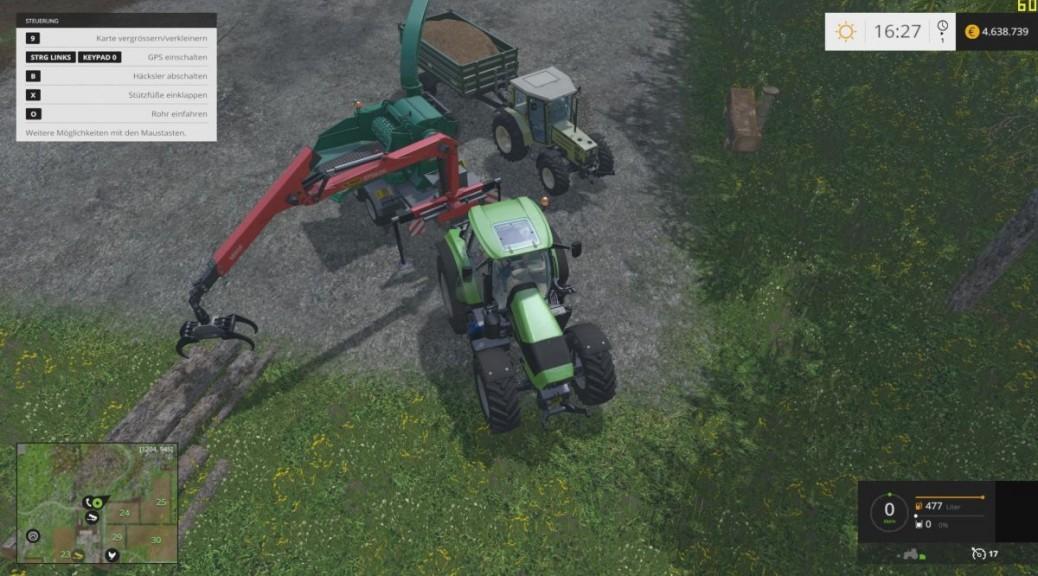 Landwirtschafts-Simulator 15 Hackschnitzel verkaufen