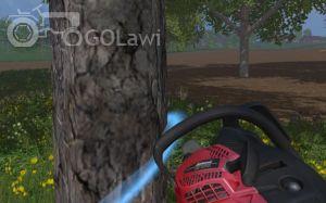 Landwirtschafts-Simulator 15 Kettensäge blauer Ring