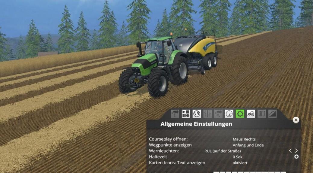 Landwirtschafts-Simulator 15 courseplay abfahrhelfer autopilot mod